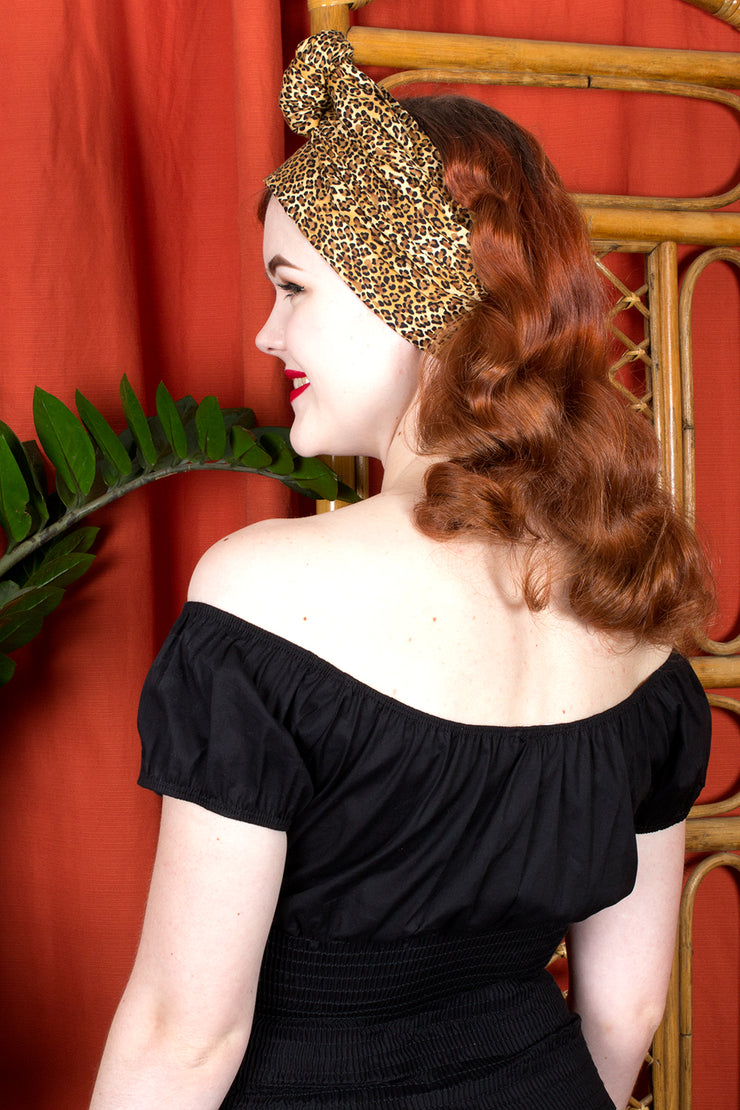Swirling Turban in Leopard Print by TOBS (709156339767)