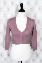 The Ultimate Crop Cardigan in Mauve Orchid
