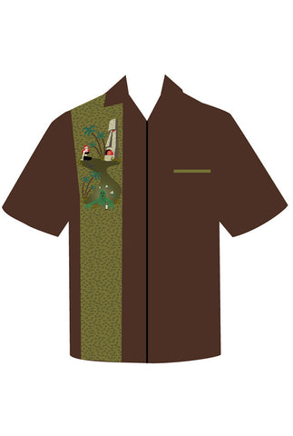 Monster Tiki Island Men's Button Down