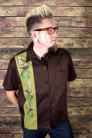 Monster Tiki Island Button Down - Slight Defect Final Sale