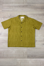 Olive Green Cross Hatch Button Down