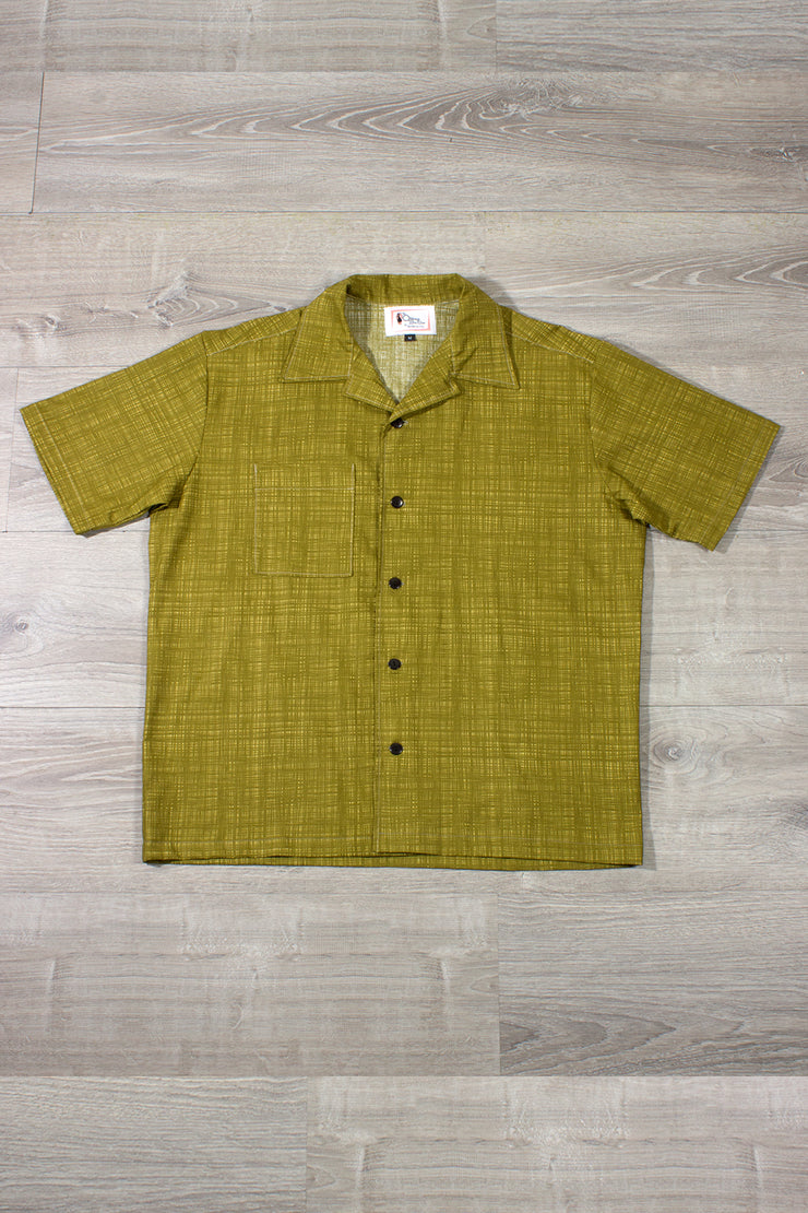 Olive Green Cross Hatch Button Down (538084147255)