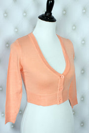 The Ultimate Crop Cardigan in Peach