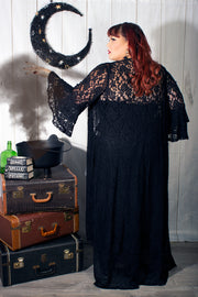 Cordelia Black Lace Robe Plus Size