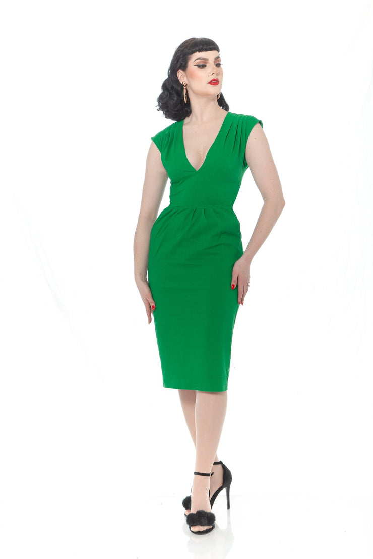 Green with Envy Wiggle Dress