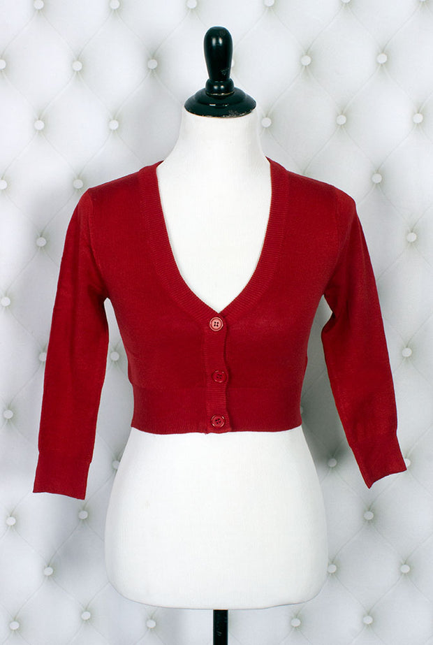 The Ultimate Crop Cardigan in Red