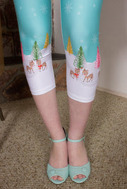 Reindeer Love Recylced High-Waist Capris Leggings (8299039880)
