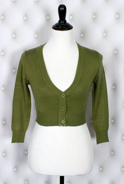 The Ultimate Crop Cardigan in Sage