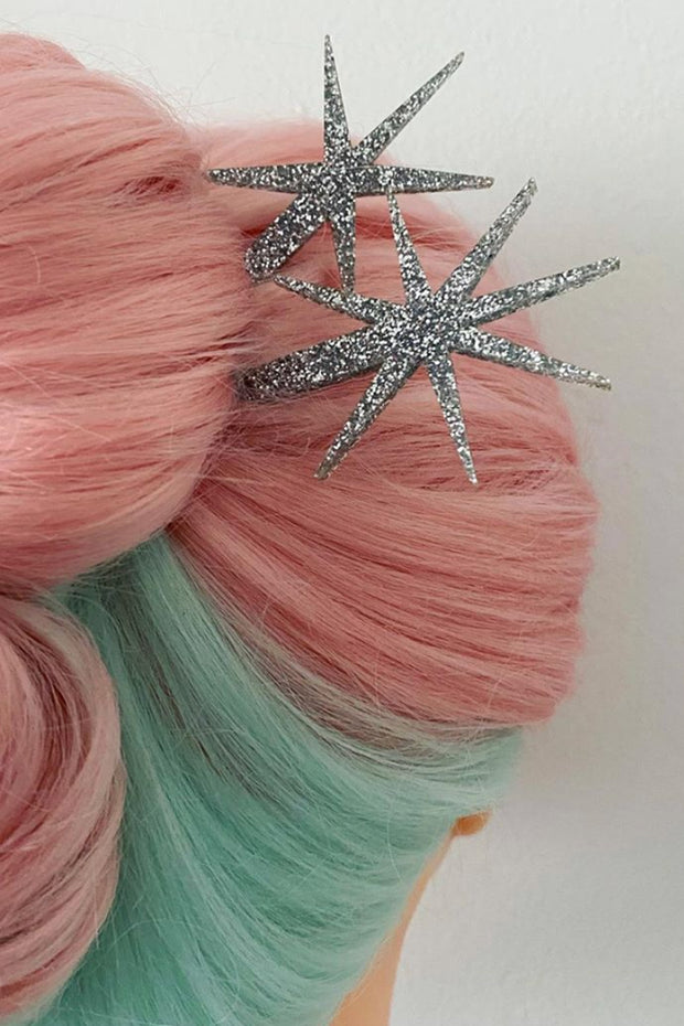 Fox & Doll Starburst Hair Sticks 2pc
