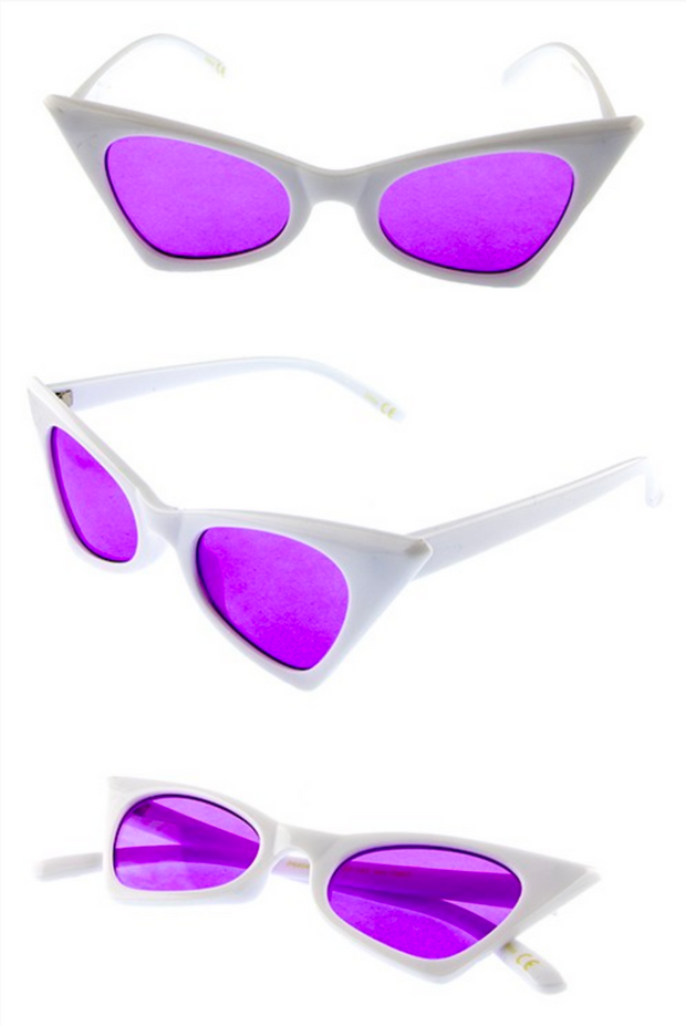 Extra AF White Cat Eye Sunglasses