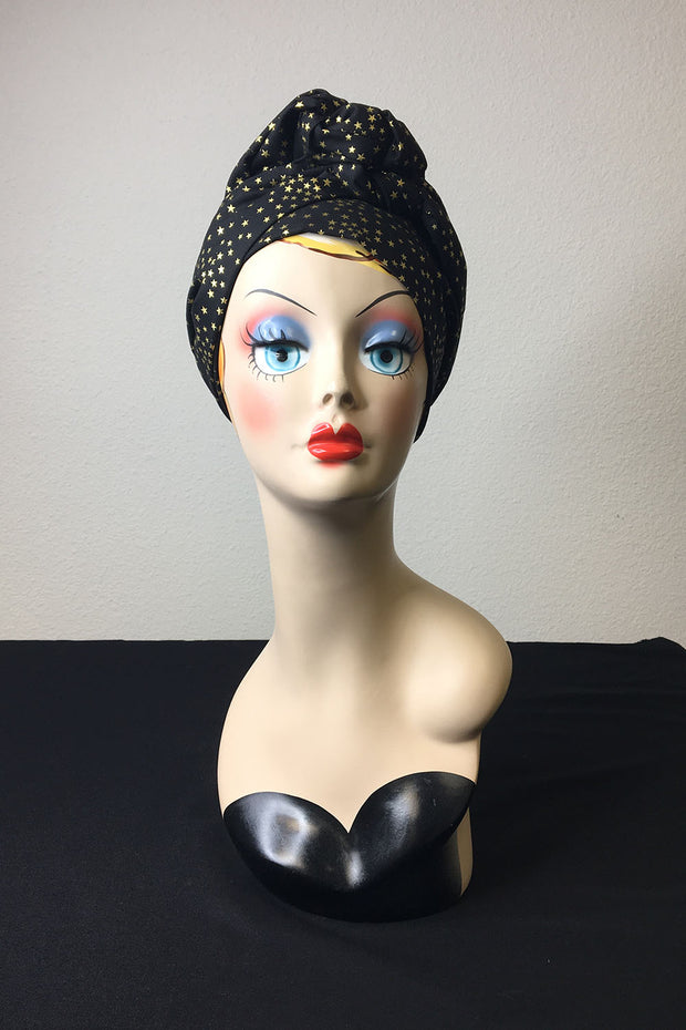 Swirling Turban in Ziegfeld Follies in Black or Pink by TOBS