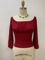 Tabitha Peasant Top Ox Blood