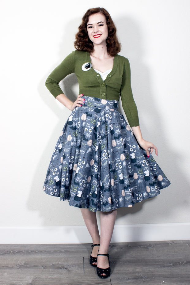 I Put A Spell On You Circle Skirt by The Oblong Box Shop (10651451336)