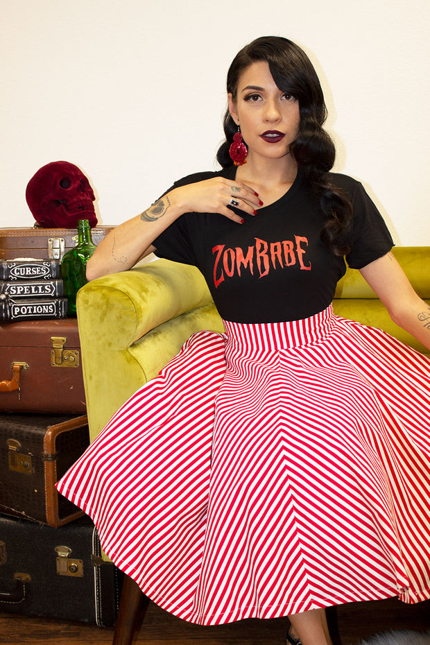 ZomBabe Fitted Ladies T by Horror Junkie (1711951806519)