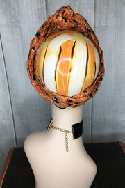 Swirling Turban in Arachnophobia White or Orange by TOBS (1406759043127)
