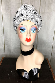 Swirling Turban in Arachnophobia White or Orange by TOBS