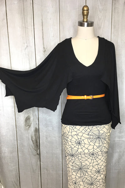 Valentina Bat Wing Sleeve Top