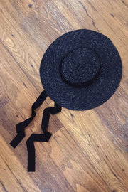 Vintage Reproduction Small Straw Hat with Tie