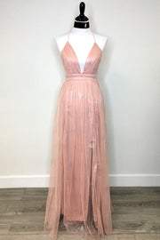 Starburst Maxi Dress Blush