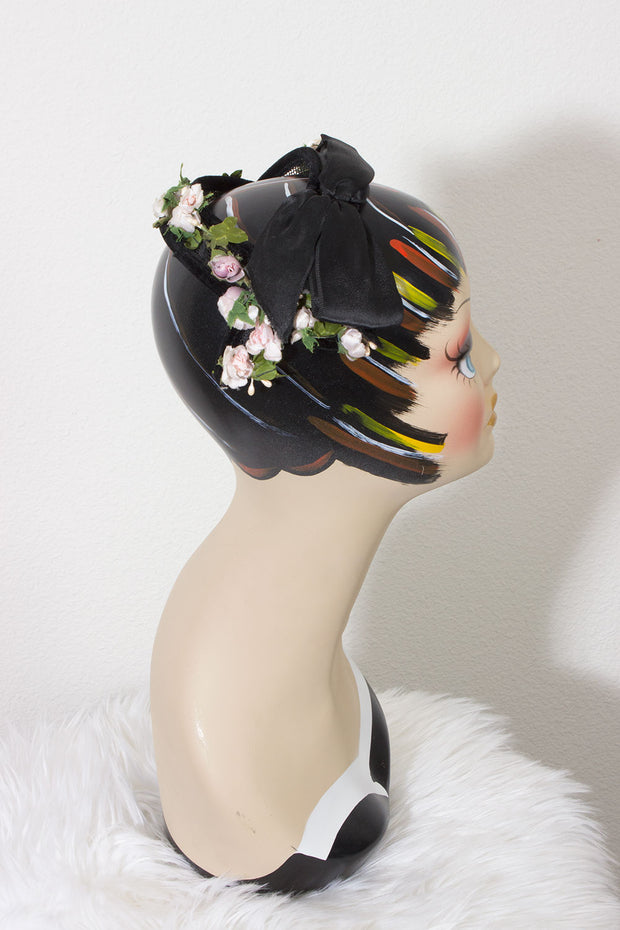 Ribbon and Flowers Vintage Hat