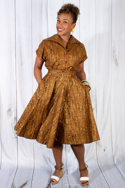 Un-Corked Circle Skirt Brown (1603676962871)