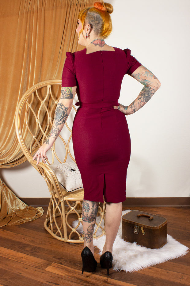 Indulgence Wiggle Dress Berry - FINAL SALE