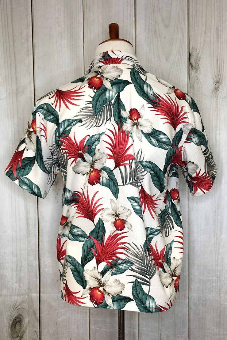 Festive Ferns Barkcloth Button Down Shirt by The Oblong Box Shop (1429241364535)