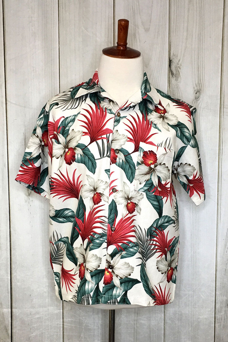 Festive Ferns Barkcloth Button Down Shirt by The Oblong Box Shop