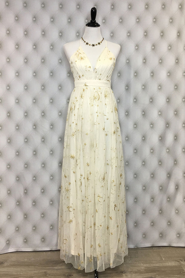 Written in the Stars Maxi Dress Cream