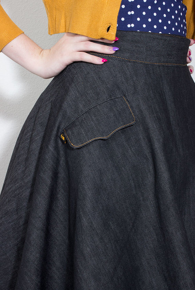"TOBS Original ""Thread & Mitre"" Collection Denim Skirt"