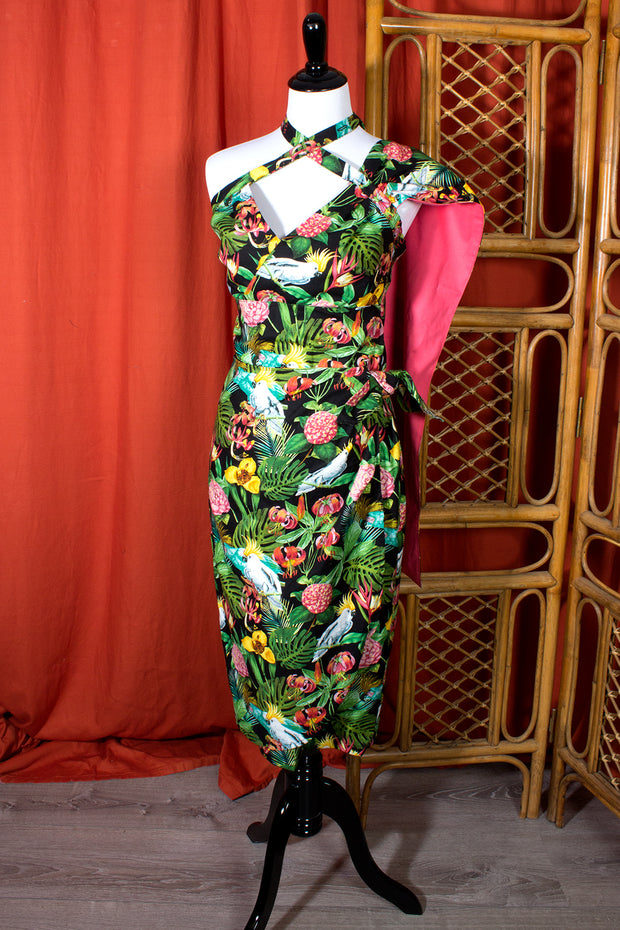 Fantasy Island Sarong Dress with Matching Sash (1341073031223)