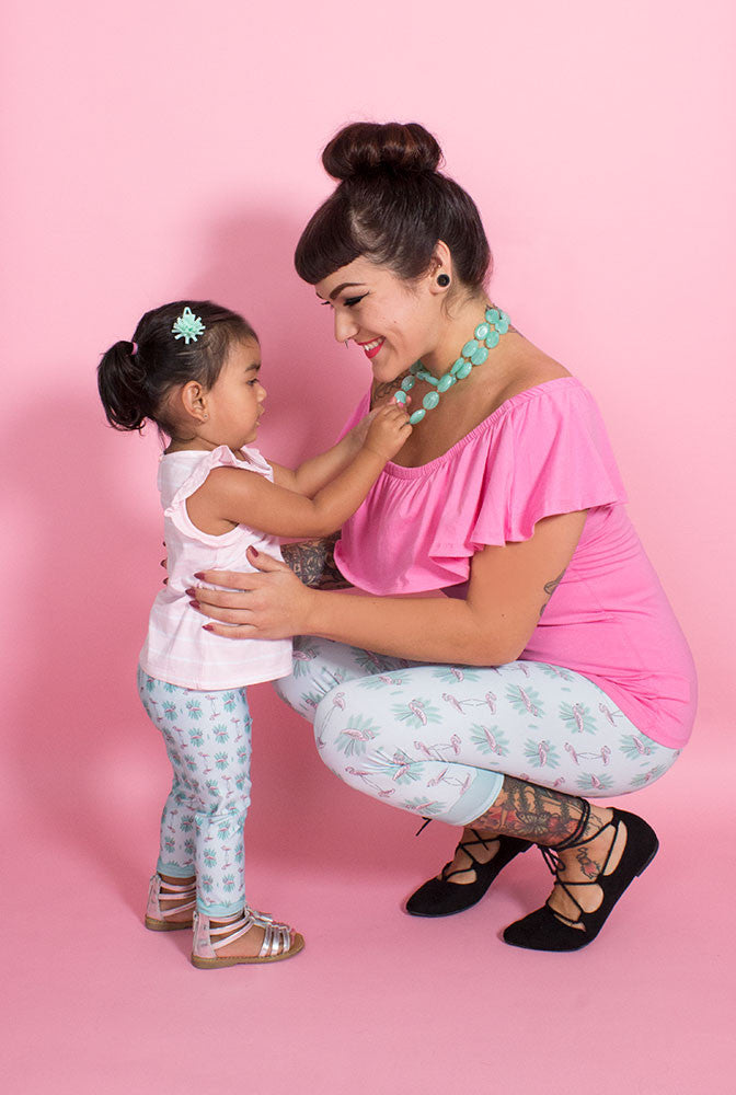Pink Flamingo Kids Leggings (9780995528)