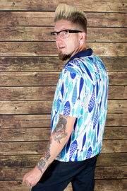 Quite A Catch Fish Print Button Down Shirt (550161449015)