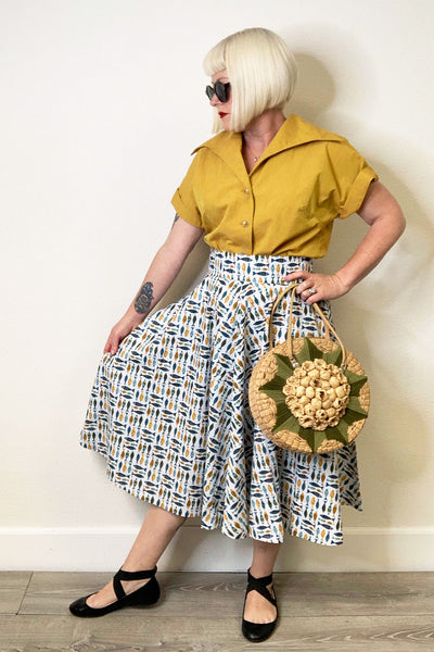 School of Fish Circle Skirt by The Oblong Box Shop
