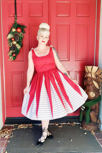 Holiday Affair Gathered Dress - The Oblong Box Shop