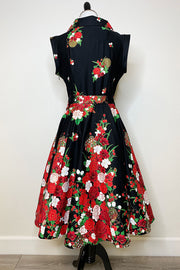 Midnight Garden Swing Dress