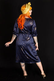 Gold Dust Woman Dress Navy - PRE-ORDER