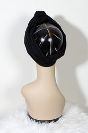 Swirling Turban in Noir by TOBS