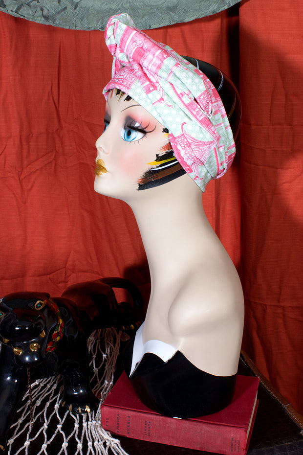 Swirling Turban in Pink Pagoda by TOBS