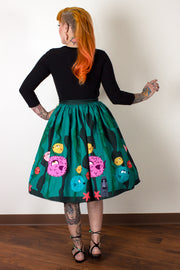 Puffer Fish Novelty Print Gathered Skirt - PRE-ORDER