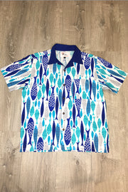 Quite A Catch Fish Print Button Down Shirt