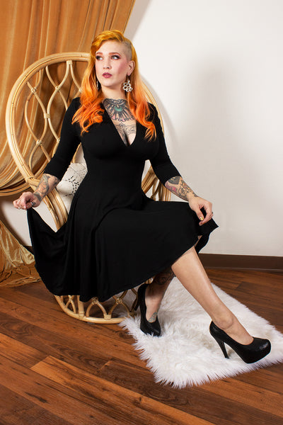 Raquel Dress in Black Noir