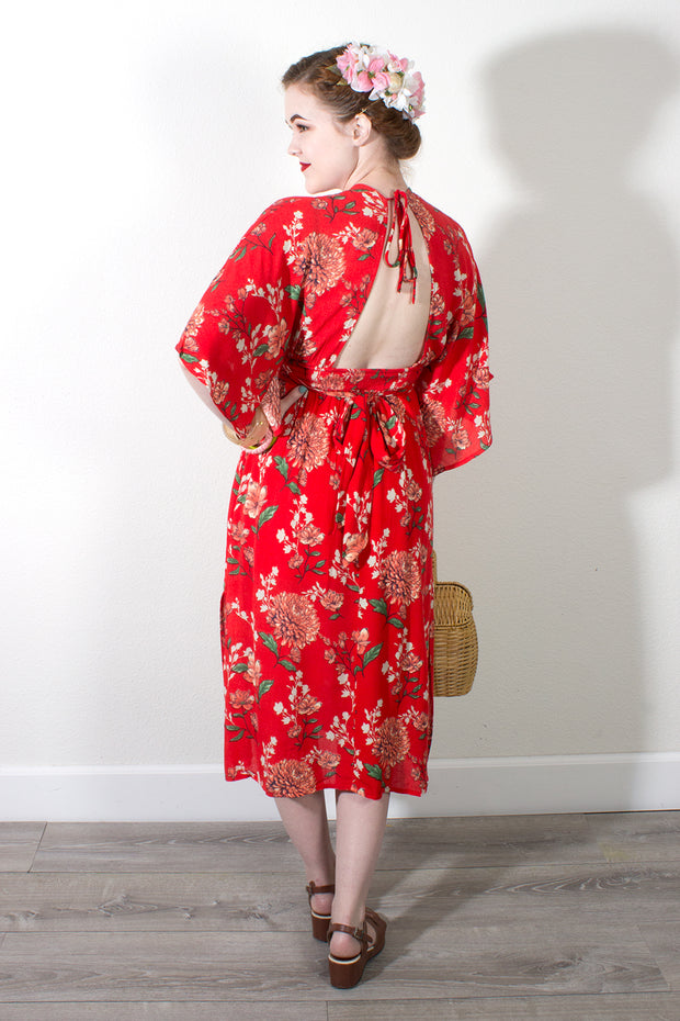 Maximum Chrysanthemum Dress in Red