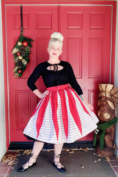 Holiday Affair Gathered Skirt - The Oblong Box Shop