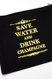 Save Water Drink Champagne Makeup Bag