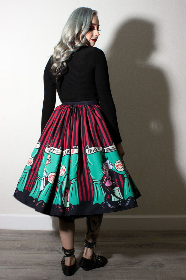 Sideshow Sweeties X Coppertop Ink Collab Gathered Skirt (1614968881207)