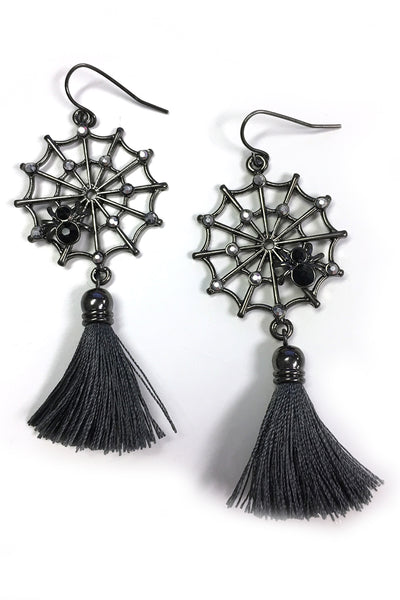 Spiderweb Tassel Earrings (1405459398711)