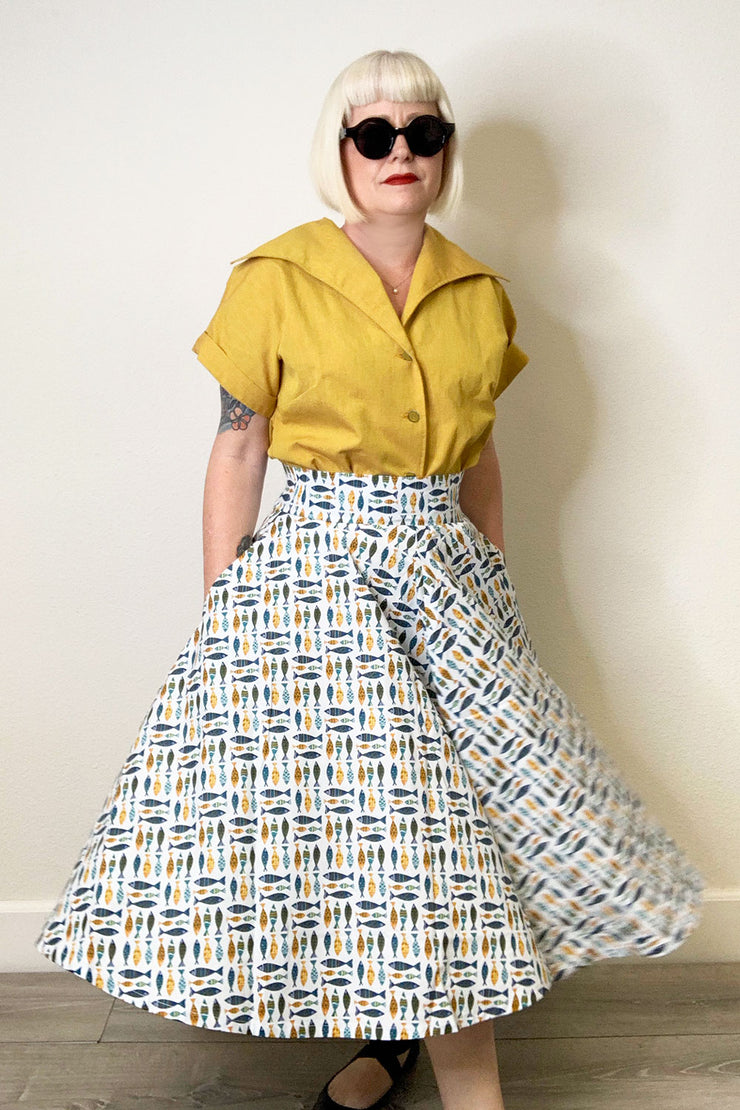 School of Fish Circle Skirt by The Oblong Box Shop (1616071032887)