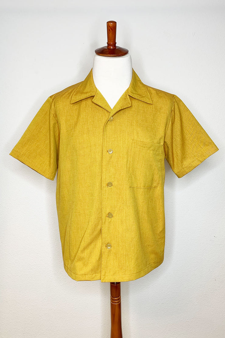 Spicy Mustard Men's Button Down Shirt (1492564246583)