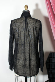 Draconia Spiderweb Bow Blouse